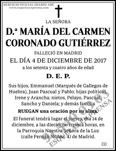 María del Carmen Coronado Gutiérrez